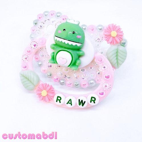 Rawr - White, Pink & Mint Green