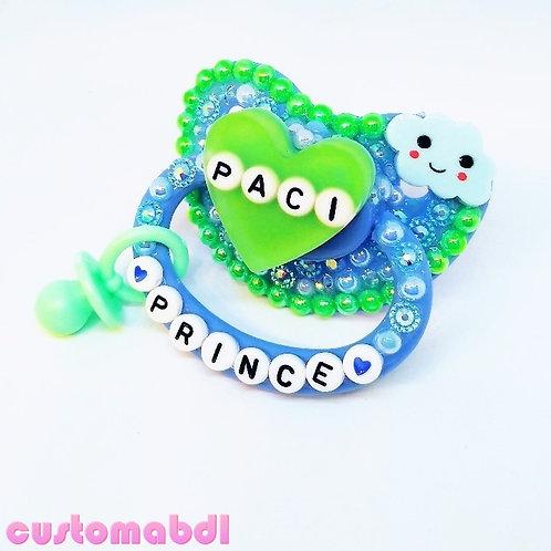 P Prince - Blue & Green w/Charm