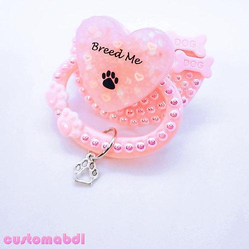 B Me Paw Heart w/Charm - Pink - Dog Bones