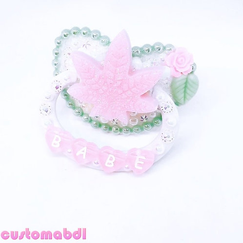 Babe Leaf - White, Mint Green & Pink