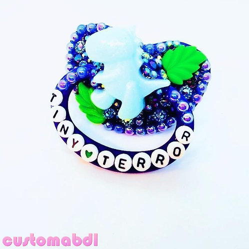 Tiny Terror Dinosaur - Royal Blue, Baby Blue & Green