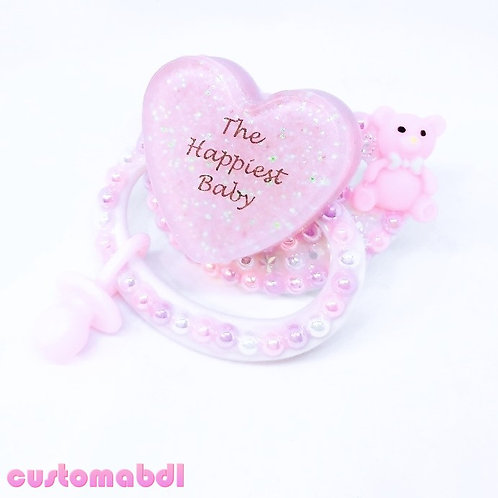 The Happiest Baby w/Charm - White, Pink & Lavender