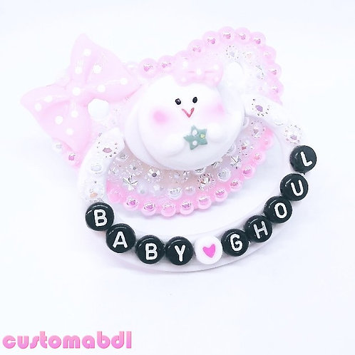 Baby Ghoul Ghost - White, Pink & Black
