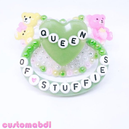 Queen Of Stuffies - Green, White, Pink & Yellow
