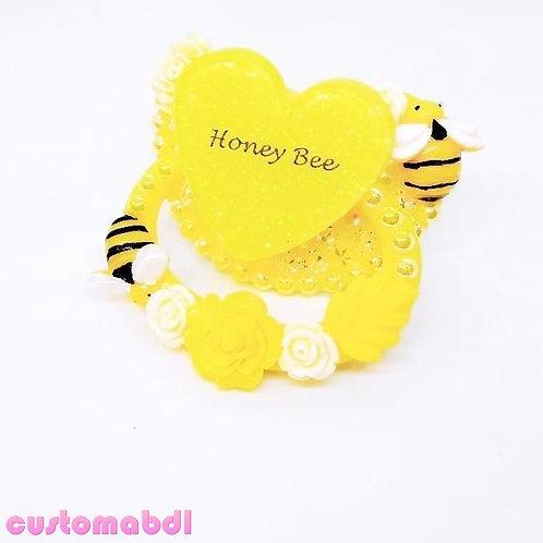 Honey Bee Heart - Yellow