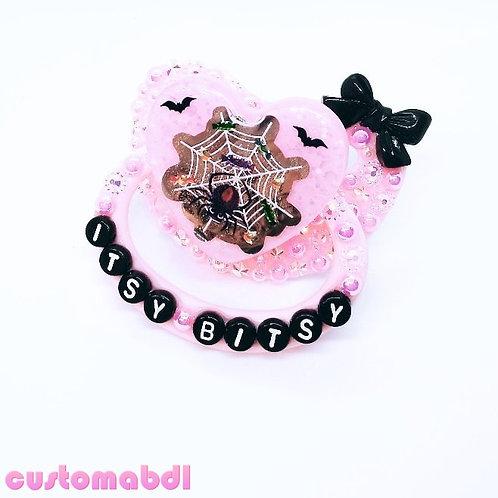 Itsy Bitsy Spider Heart - Pink & Black