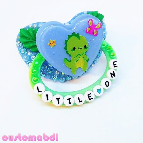Little One - Dino - Dragon - Green & Baby Blue (Imperfect, See Description)