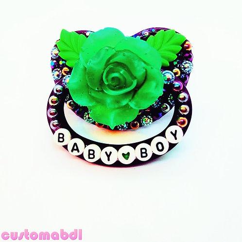 Baby Boy Rose - Purple & Green