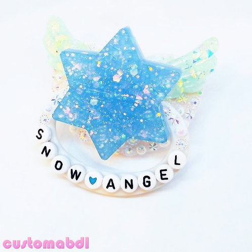 Snow Angel - White & Baby Blue Snowflake