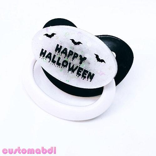 Simple Happy Halloween - Black & White