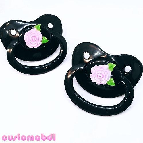 Simple Rose Bouquet - Black w/Pink or Lavender