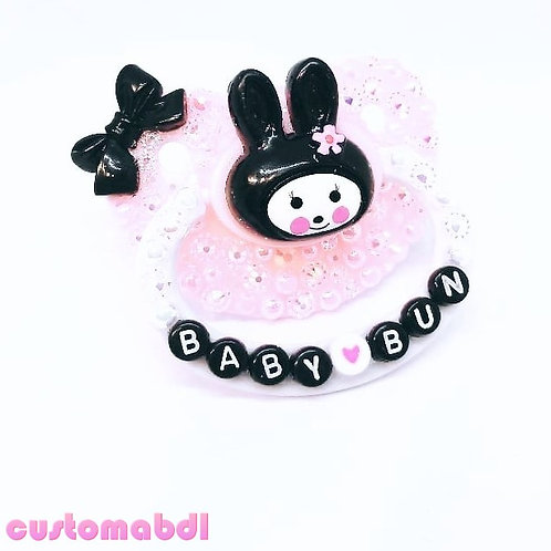 Baby Bun - Pink, White & Black