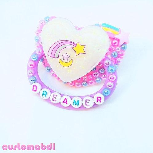 Rainbow Dreamer Heart - Pink, Lavender, Baby Blue & White