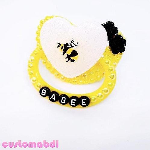Babee Bee Heart - Yellow, White & Black