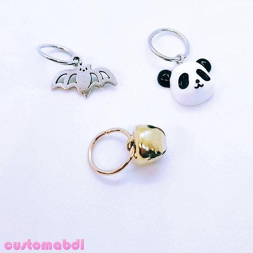 Loop Charm - Bat - Bell - Panda