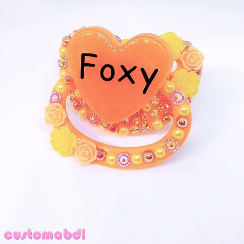 Foxy Fox Heart - Orange, Red & Yellow