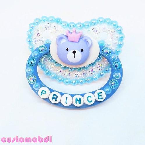 Bear Prince - Baby Blue & White