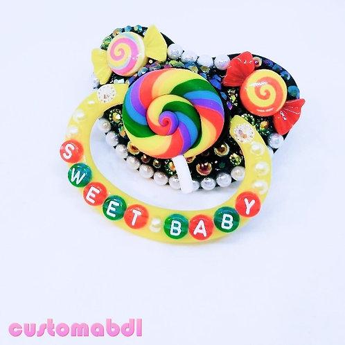 Sweet Baby Lollipop - Black, Yellow & Red