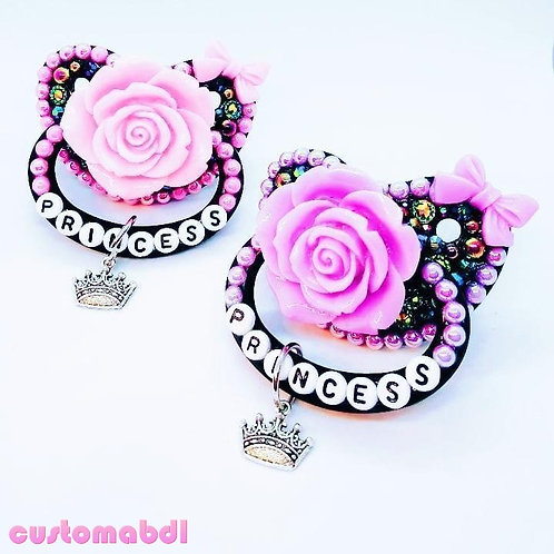 Princess La Fleur w/Charm - Choose Any Color (Black Base)