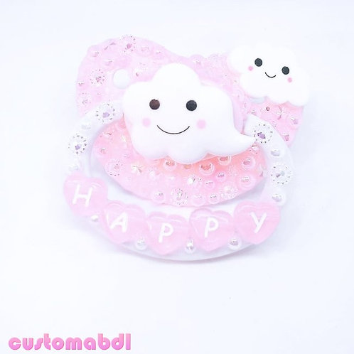 Happy Clouds - White & Pink