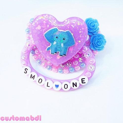 Elephant - Smol One - Lavender, Baby Blue & Pink