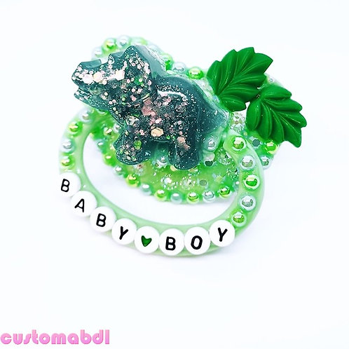 Baby Boy Dinosaur - Green & Teal