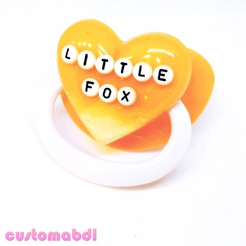 Simple Little Fox - Orange & White