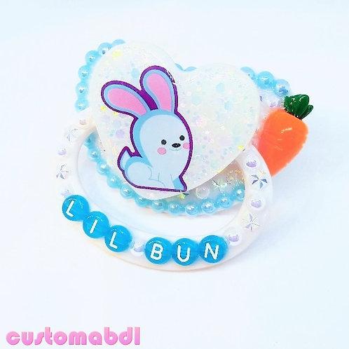 Lil Bun w/Carrot - White & Baby Blue