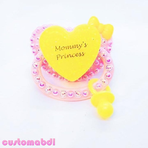 M's Princess w/Charm - Pink & Yellow