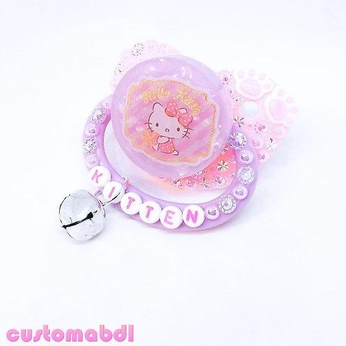 HK Kitten w/Bell Charm - Pink & Lavender