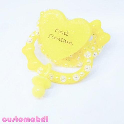 O Fixation w/Charm - Yellow