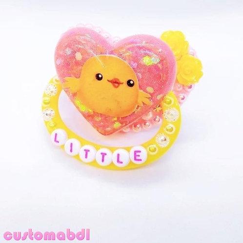 Little Chick Heart - Yellow & Pink - Bird