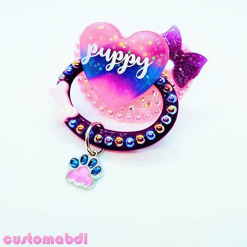 Puppy Heart - Pink, Purple & Royal Blue - Paw - Dog Bone