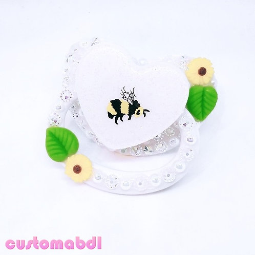 Bee - White, Yellow & Green
