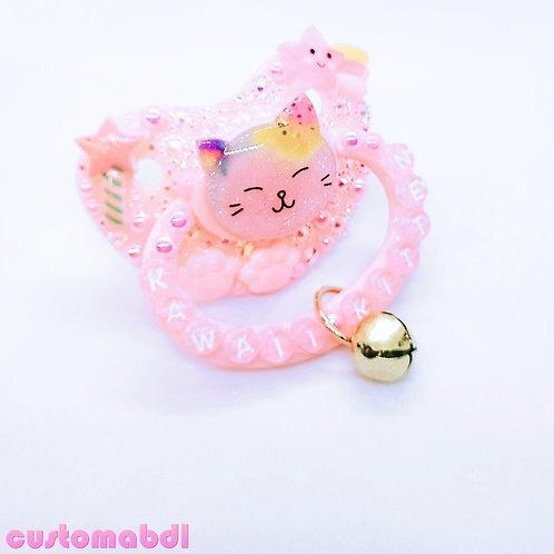 Kawaii Kitten w/Charm - Pink - Paws, Wand, Bell