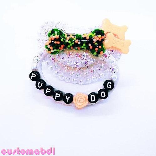 Puppy Dog Bone Sprinkles - White, Black, Orange & Green