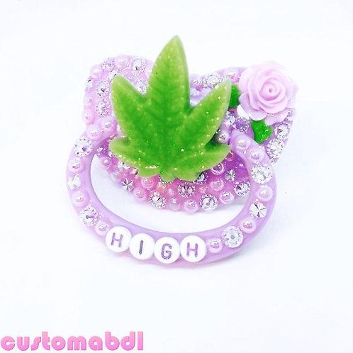 H Leaf - Lavender & Green