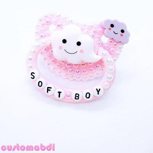 Soft Boy Clouds - Pink, White & Lavender