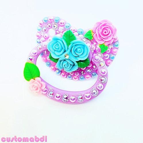 Rose Garden - Lavender,  Pink & Baby Blue