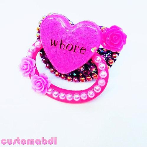 W Heart - Fuschia & Purple