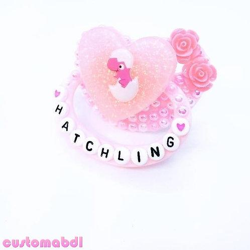 Hatchling Dinosaur Heart - Pink