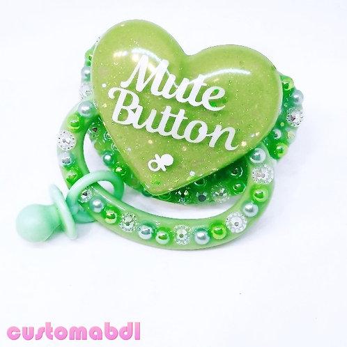 Mute Button w/Charm - Green