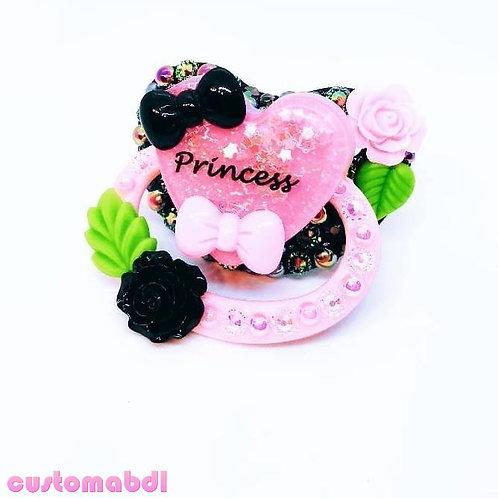 Princess Heart - Black, Pink & Green