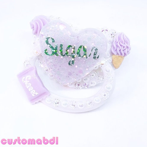 Sugar Heart - White & Lavender - Sweet - Candy