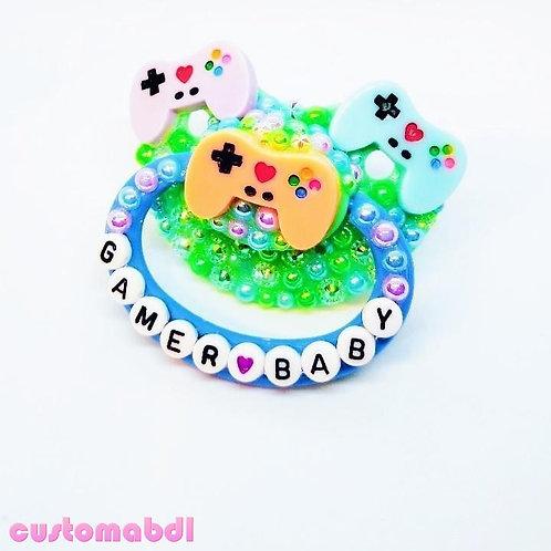 Gamer Baby - Green, Baby Blue, Lavender & Peach