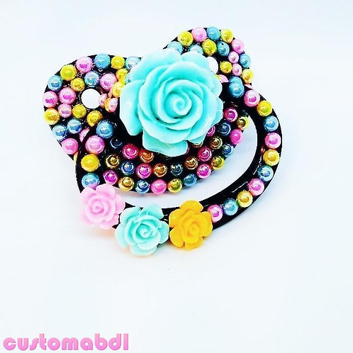 Roses - Black, Yellow, Pink & Baby Blue
