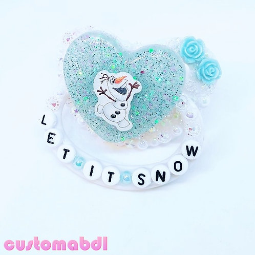 Let It Snow - White & Baby Blue
