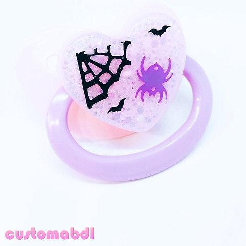 Simple Spooky Spider - Pink & Lavender