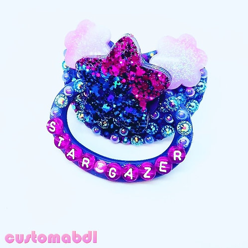 Star Gazer - Star & Clouds - Royal Blue, Purple & Pink