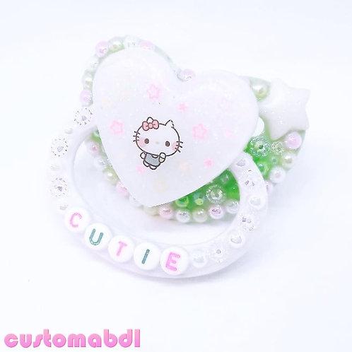 Kawaii Cutie - White, Green & Pastels